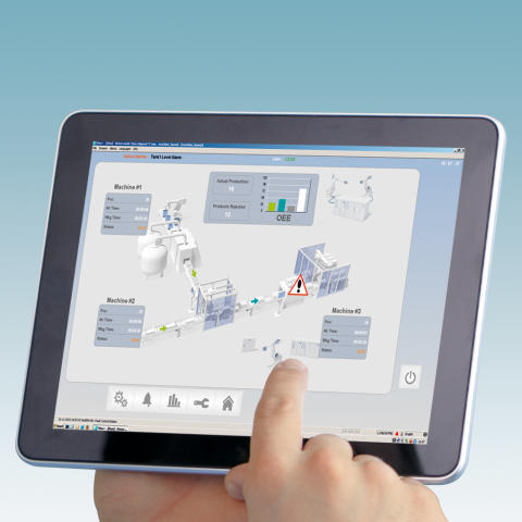 Operating and monitoring tasks now possible on mobile devices thanks to new visualisation app