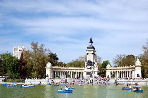 Parken Retiro i Madrid