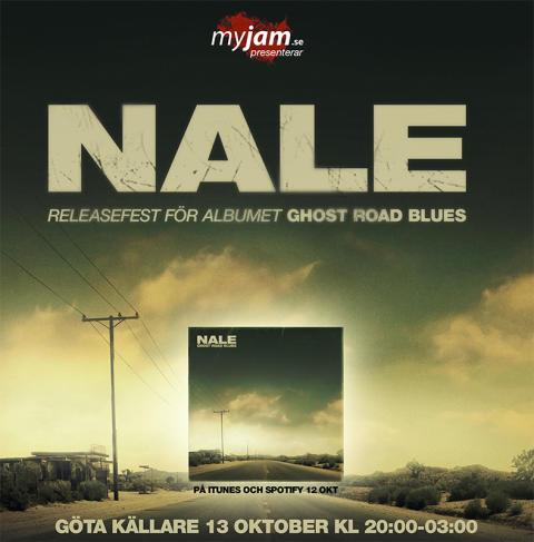 NALE anordnar releasefest för skivan GHOST ROAD BLUES + välgörenhetsinsamling på Göta Källare