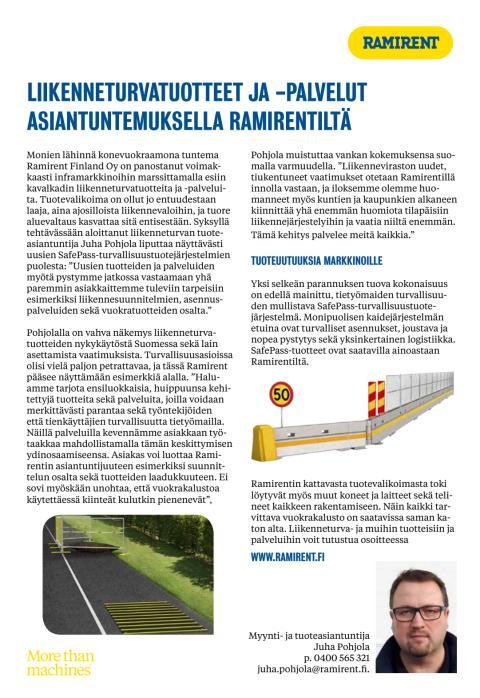 Vahva panostus liikenneturvatuotteisiin ja -palveluihin