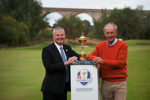 Iconic Ryder Cup Trophy visits The Roxburghe Hotel & Golf Course