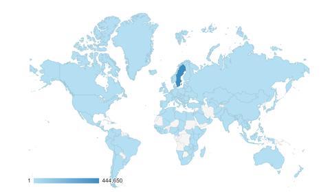 Svenskarna läser deklarationen över hela världen