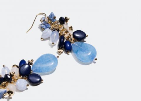 Earrings close-up
