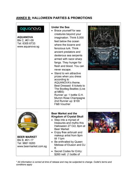 Clarke Quay Halloween Promotions and Parties