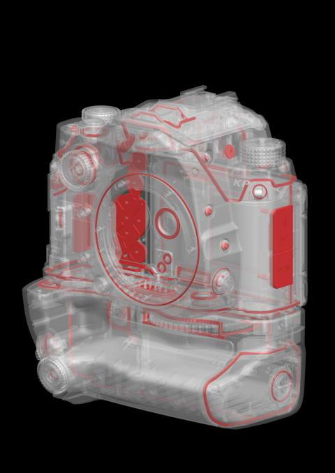 Pentax KP Body med D-BG7