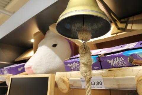 Milka nové shelf-in-shelf vystavení detail