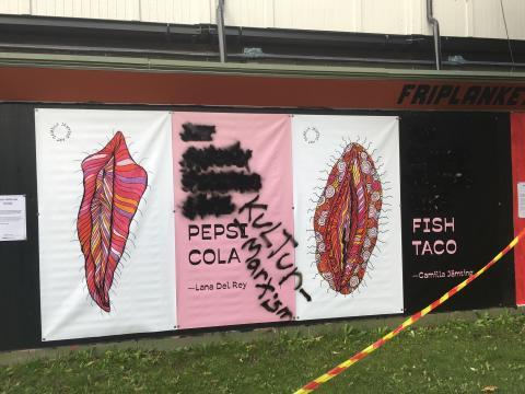 Hbtq- och normbrytande konstverk vandaliserade i centrala Göteborg