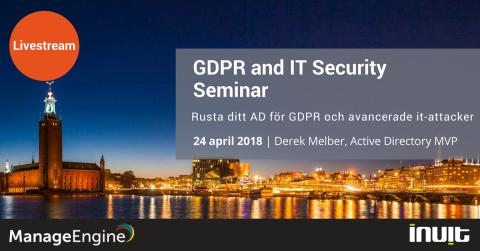 GDPR and IT Security Seminar