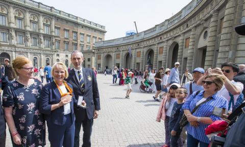 Louise Etzner Jakobsson hyllades vid slottet