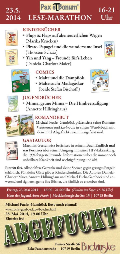 """""""24 Stunden Buch""""/Pax et Bonum Verlag - Kleiner Lese-Marathon mit guten Büchern"""