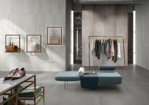New Tiles for 2020 by Villeroy & Boch  - METALYN: Novel metal-concrete interpretation and trompe-l'oeil décor - Tile concept for high-end private and commercial sectors