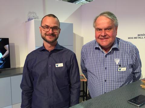 Jonas Ireklint, fabrikschef, och Anders Rittfeldt, marknadschef, från WOG Trä.