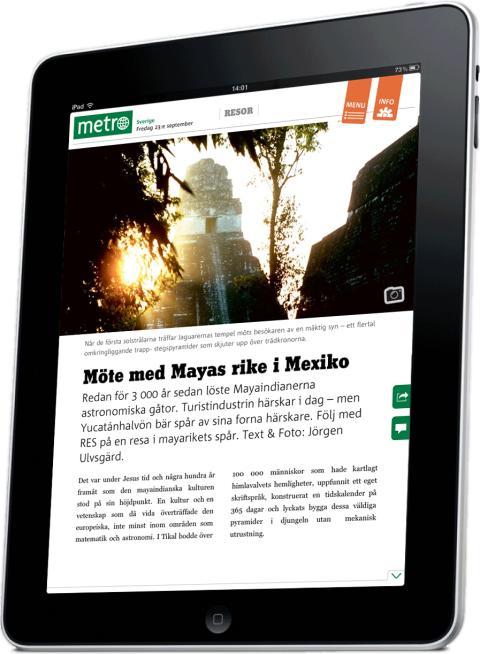 Roxen levererar mjukvaran när Metro lanseras för iPad