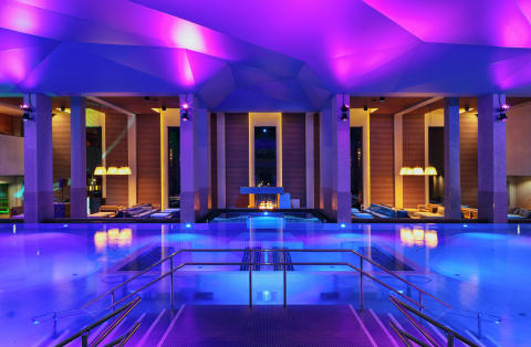 The big pool at The Well Spa, Oslo, Norway, designed by Stylt Trampoli