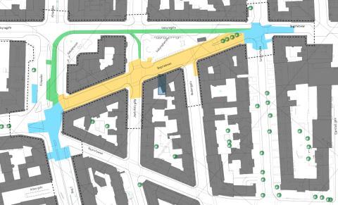 kart majorstuen Prosjekt Majorstuen kart over anleggsområdet   Sporveien