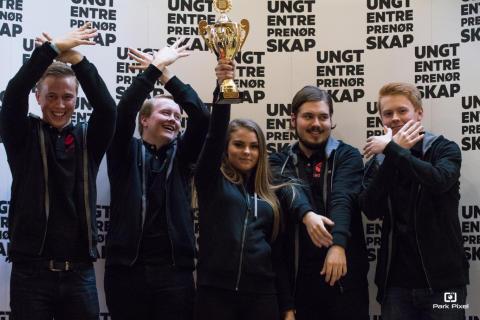 Norges beste Ungdomsbedrift 2017. Foto: Ungt Entreprenørskap.