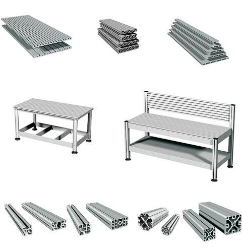 Stativprofil - för snabb och enkel uppbyggnad av maskiner, arbetsbord, skyddshuvar, ramar mm
