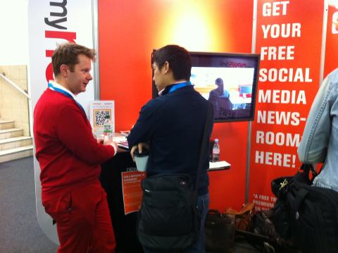 Mynewsdesk at Social Media World Forum Europe