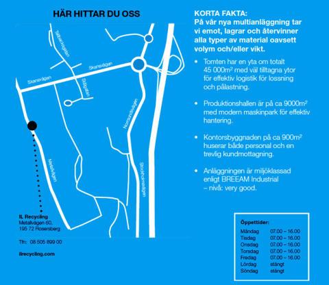 Sveriges modernaste återvinningsanläggning öppnar i Rosersberg, Airport City Stockholm