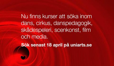 Många kurser att söka t.o.m 18 april