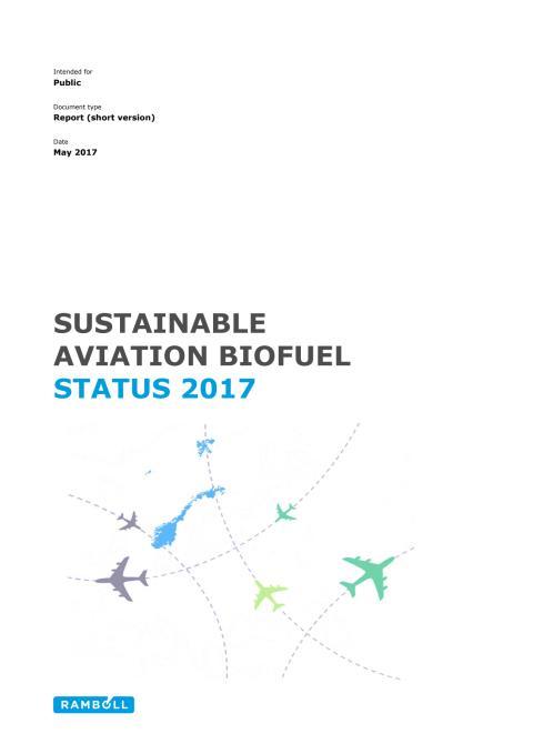 SUSTAINABLE AVIATION BIOFUEL STATUS 2017
