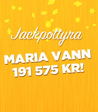 Maria från Kiruna vann 191 575 kronor på bingojackpott hos Miljonlotteriet!