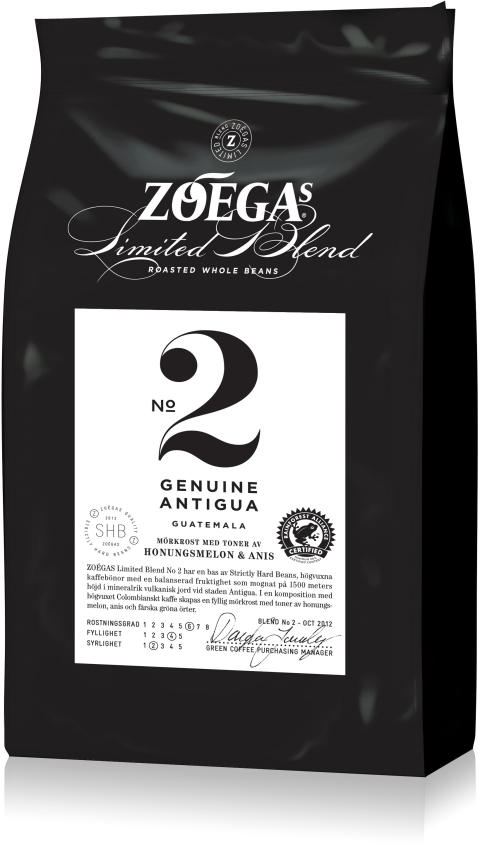 ZOÉGAS lanserar blandning No 2 i Limited Blend-serien