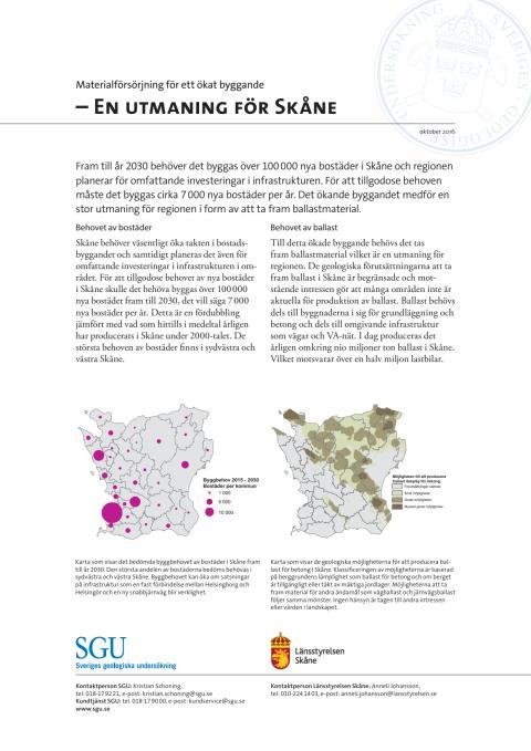Länsstyrelsens och SGU:s informationsblad om ballast