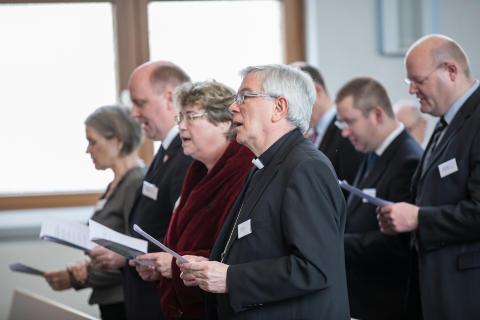 Gäste beim Jahresempfang der Neuapostolischen Kirche Westdeutschland