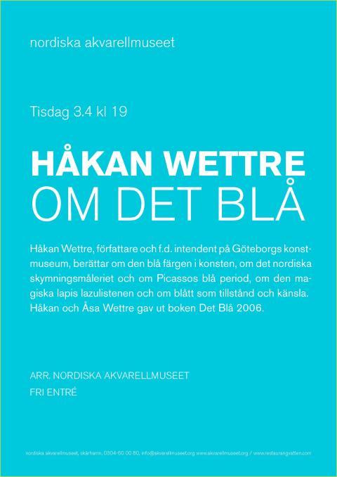 FÖRELÄSNING: OM DET BLÅ / HÅKAN WETTRE