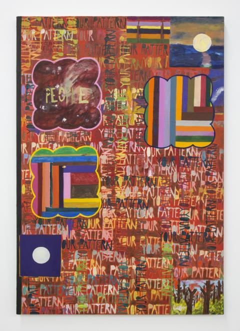 Marisa Takal, Your Pattern, 2019. Olja på duk. LA Dreams 2.