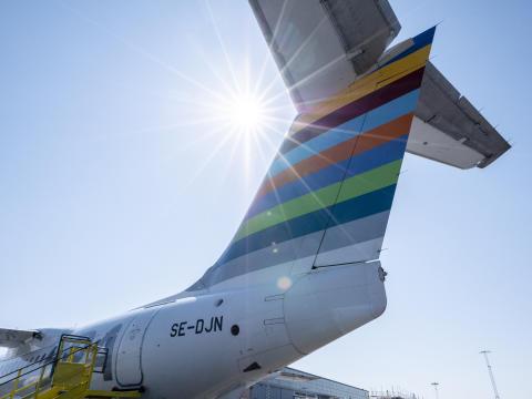 Wästbygg Gruppen väljer fossilfritt flygbränsle med BRA