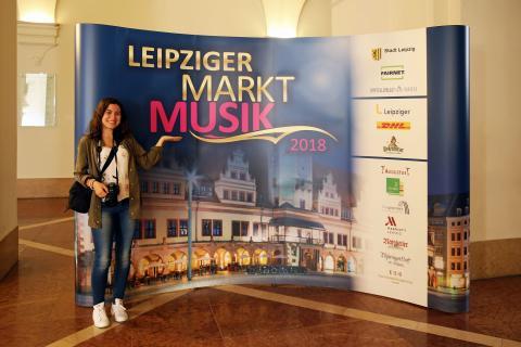 Leipziger Markt Musik - Präsentationswand