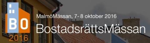 Besök oss på BostadsrättsMässan i Malmö 7-8 oktober