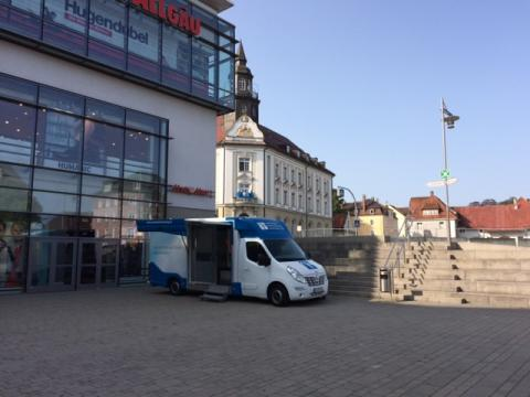 Beratungsmobil der Unabhängigen Patientenberatung kommt am 13. November nach Kempten (Allgäu).