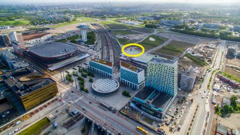 Flygbild över Hyllie centrum