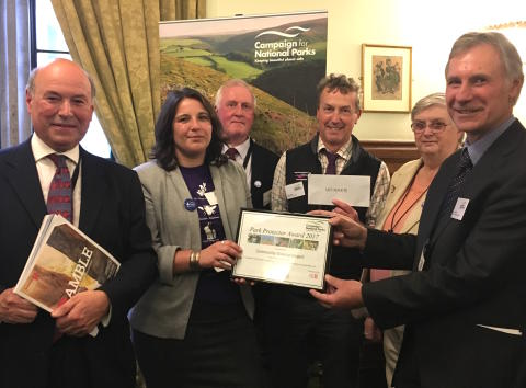 Ramblers Holidays Charitable Trust Sponsor Campaign for National Parks 'Park Protector Award'