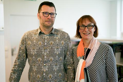 Peter Sjödelius och Maria Guggenberger