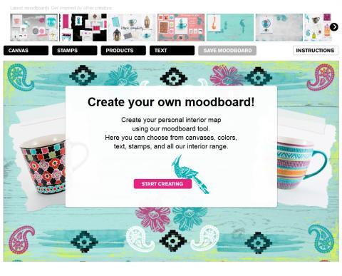 INDISKA lanserar moodboard-verktyg för inredning
