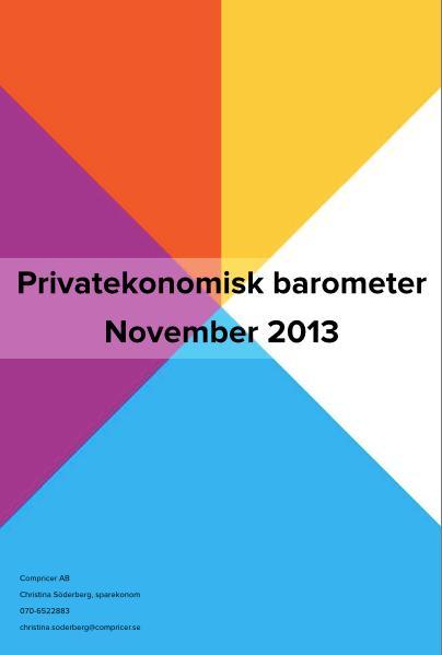 Privatekonomisk barometer november 2013