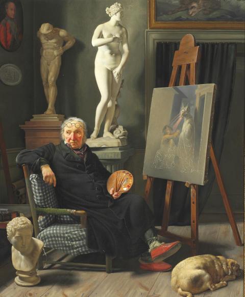 Martinus Rørbye: Portræt af professor Lorentzen