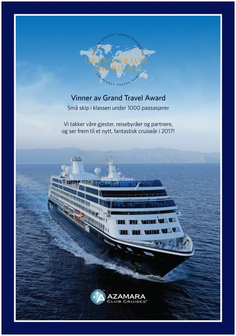 Vinner av Grand Travel Award -