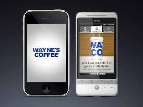 Wayne´s Coffee släpper Apple och Android applikation sk app för kaffeälskare