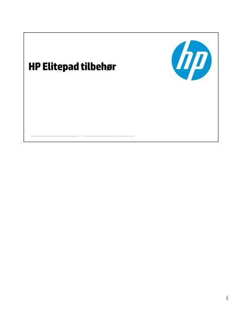 HP ElitePad tilbehør