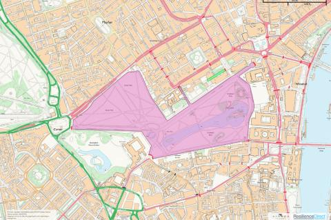 NATO exclusion zone map