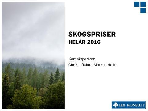 Rapport Skogsmarkspriserna 2016