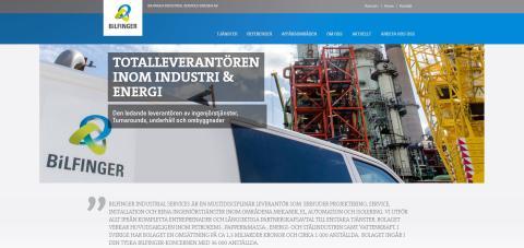 Bilfinger Industrial Services Sweden AB lanserar ny hemsida