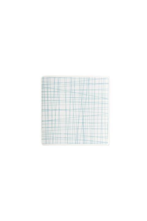 R_Mesh_Line Aqua_Plate 14 cm square flat