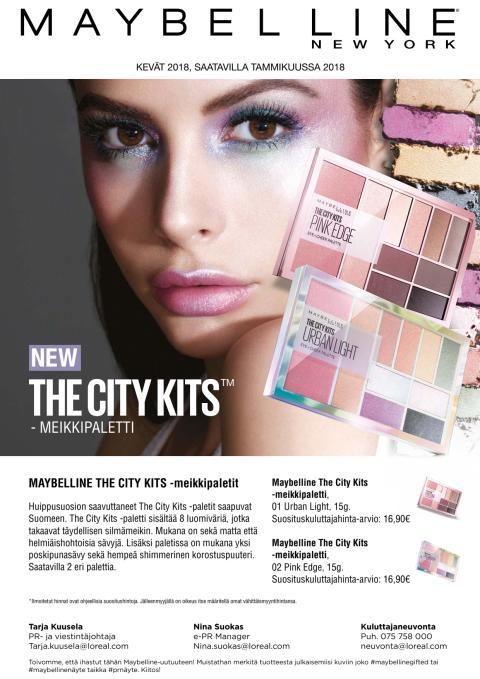 Maybelline The City Kits -meikkipaletti