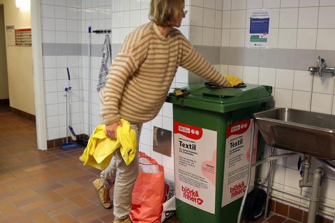 Textilåtervinning i Familjebostäders tvättstugor